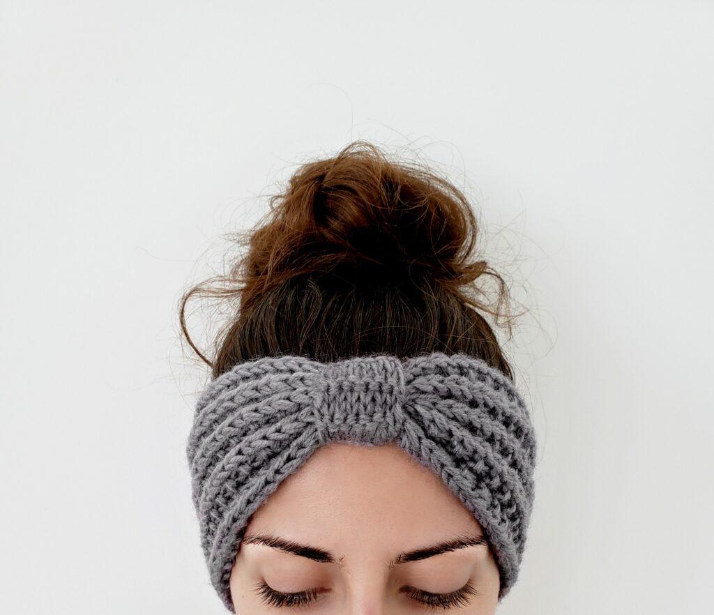 Seeded Rib Stitch Ear Warmer - Knit Headband Pattern - The ...