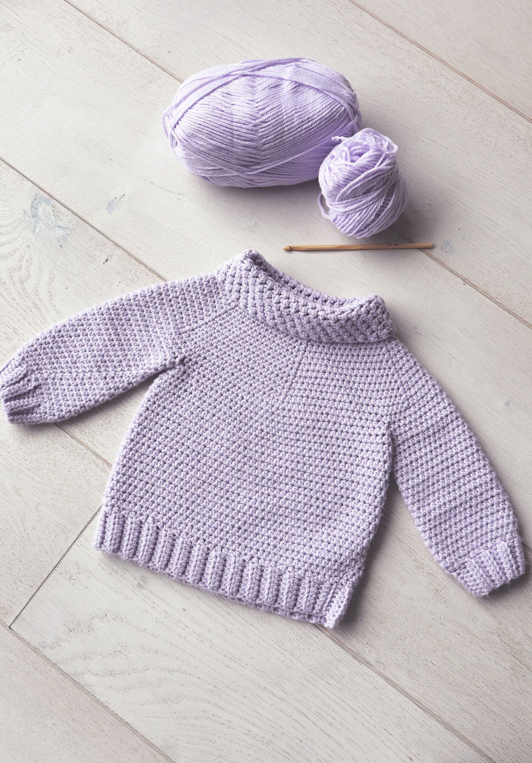 The Gumdrop Sweater Crochet Baby Pullover Pattern The Snugglery