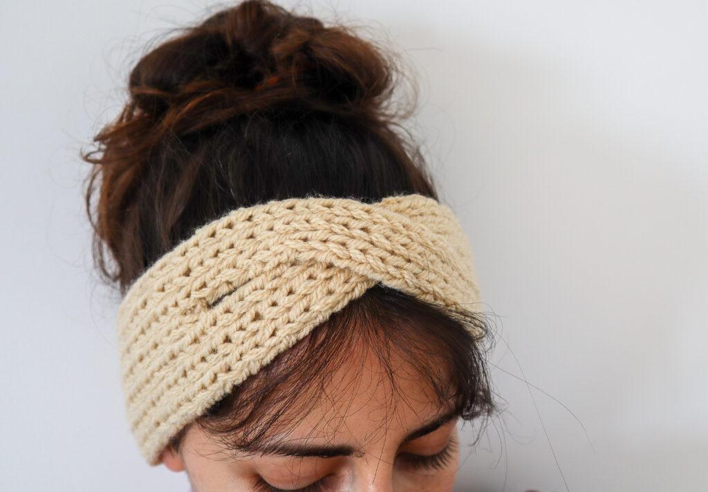 Turban Style Headband - Twist Front Knit Ear Warmer ...