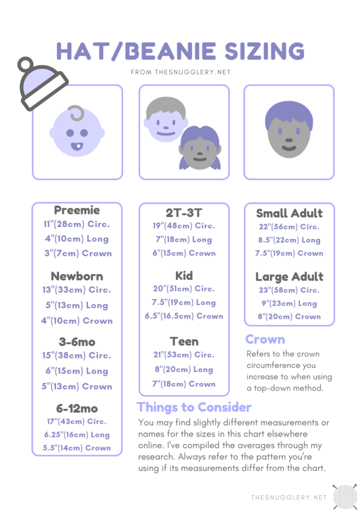 Free Printable Blanket Size Chart The Snugglery