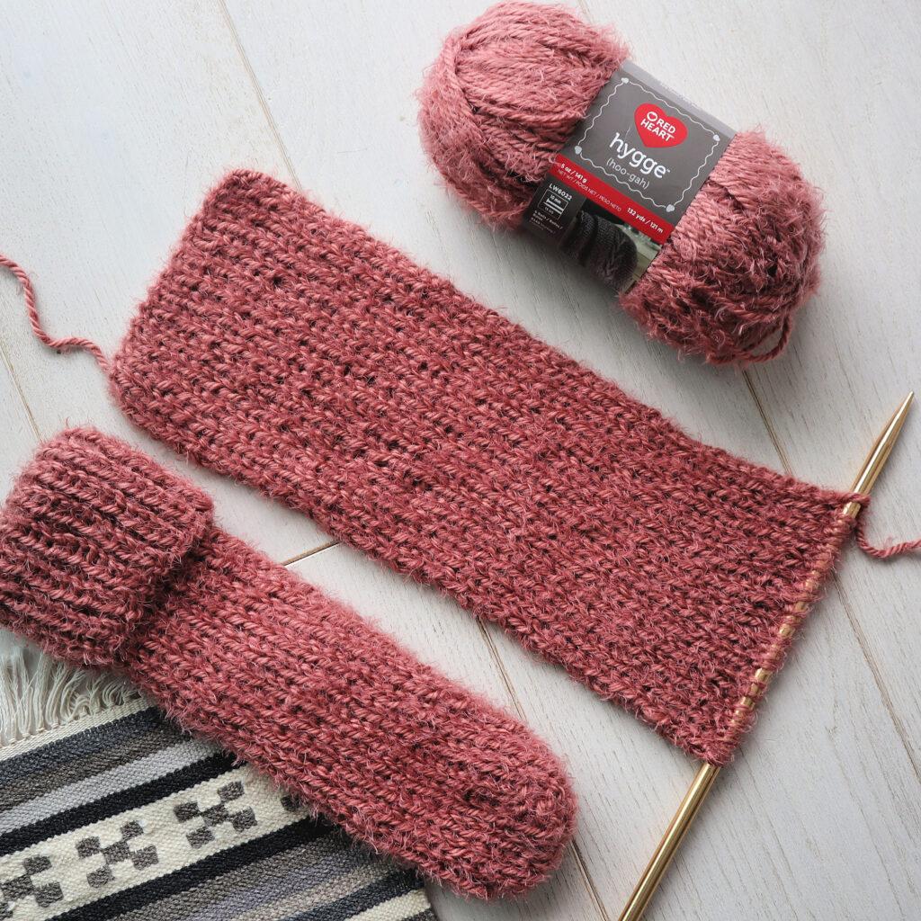 chaussettes douillettes en tricot