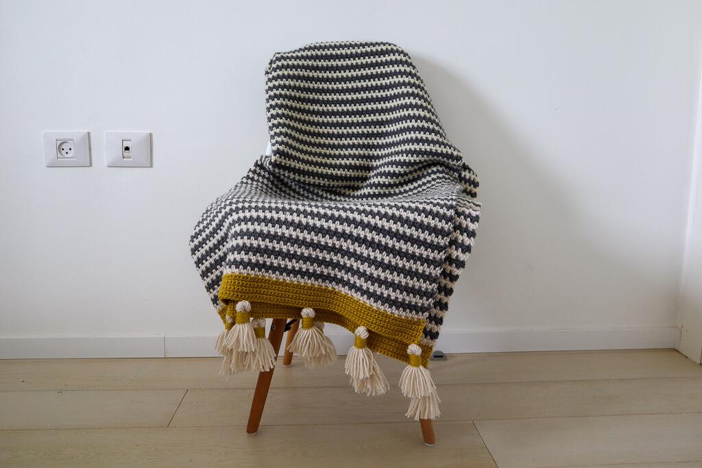 couverture de point de lin au crochet